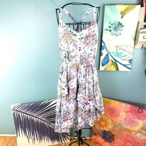 A New Day Blue Floral Dress Size Large